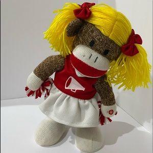 Rare Gummy Jingle Bells Cheerleading Sock Monkey